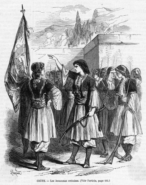 The women of Crete join in the fight to rid the island of Turkish rule, but even with their help the insurrection fails and Crete stays Turkish till the end of the century