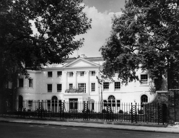 Crewe House, Curzon Street, Mayfair, west London, was built c. 1735 and was the home of the Marquis of Crewe. Date: built c. 1735