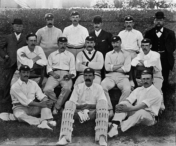 Yorkshire: Turner, Wardall, Whitehead, Dodworth, Mounsey, Draper, Tunnicliffe, Peel, Hawke, Jackson, Wainwright, Brown, Hunter, Hirst