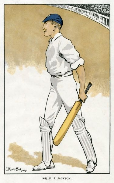 Sir Francis Stanley Jackson (1870-1947). English cricketer. Date: 1899