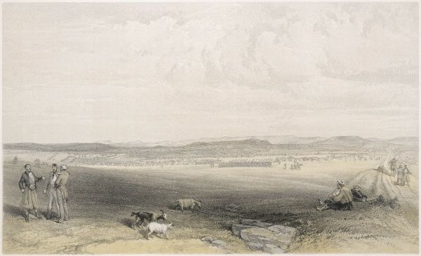 The camp of the Light Division, before Sebastopol, from Woronzoff, looking east, about one and a half miles from Sebastopol