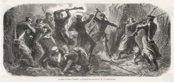 Hand to hand fighting in the Crimean War