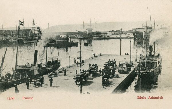Croatia - Rijeka (Fiume) - Adamas Point - The Harbour. Photograph taken when this area was part of the Austro-Hungarian Empire