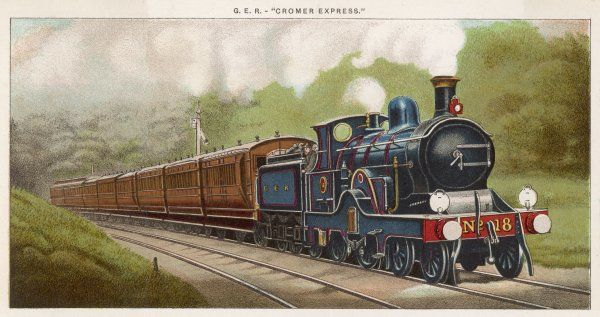 The 'Cromer Express' of the Great Eastern Railway carries its passengers into East Anglia