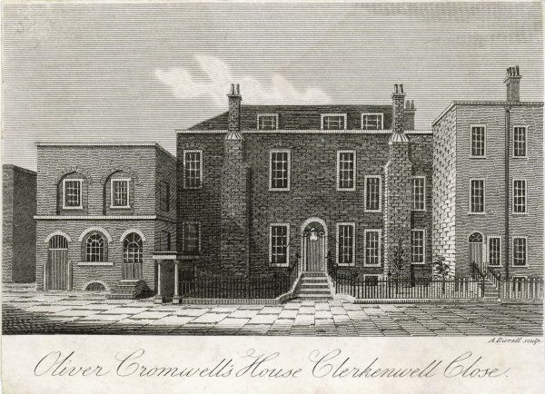 Oliver Cromwell's home in Clerkenwell Close, London