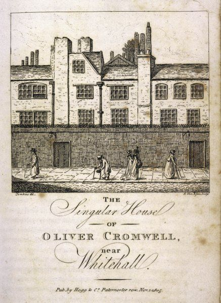 Oliver Cromwell's home near Whitehall, London