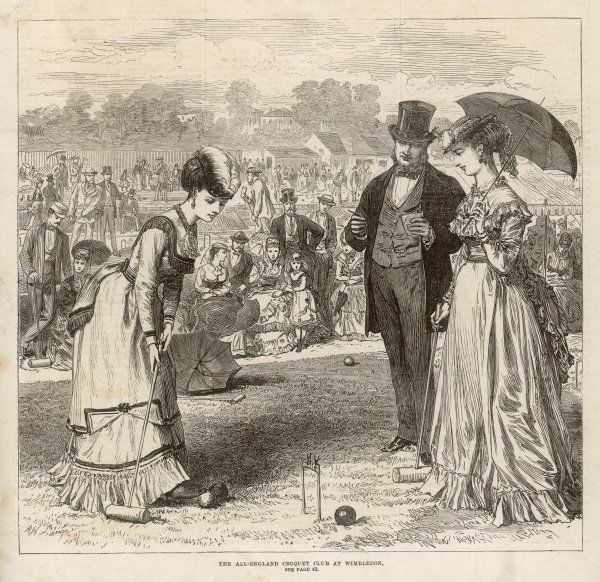A Ladies croquet match at the All England Club, Wimbledon Date: 1870