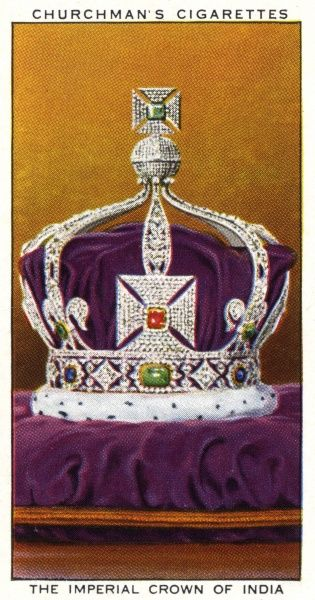 CROWN JEWELS OF ENGLAND The Imperial Crown of India, made in 1911 for the great Durbar at Delhi in 1912 Date: 1911