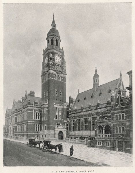The Town Hall in Croydon (now called the Croydon Clocktower) in Katherine Street, opened in 1896 by the then Prince and Princess of Wales, later Edward VII and Alexandra who arrived by train at West Croydon station and processed via North End
