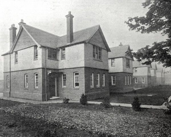The children's cottage homes erected on Mayday Road in 1897 by the Croydon Poor Law Union to house pauper children away from the workhouse. Date: 1902