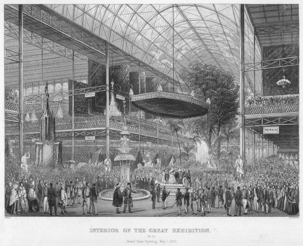 Queen Victoria opens Crystal Palace