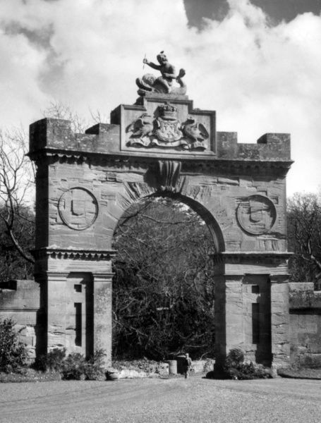 The Gateway to Culzean Castle, Ayrshire, Scotland. The castle was built by Robert Adams between 1772 and 1790 for David, 10th Earl of Cassillis. Date: late 18th century