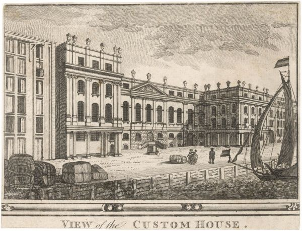 The old Custom House, fronting the Thames