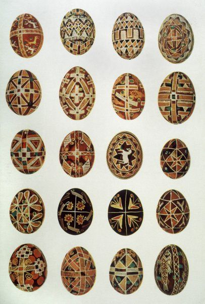Decorated eggs from Ukraine