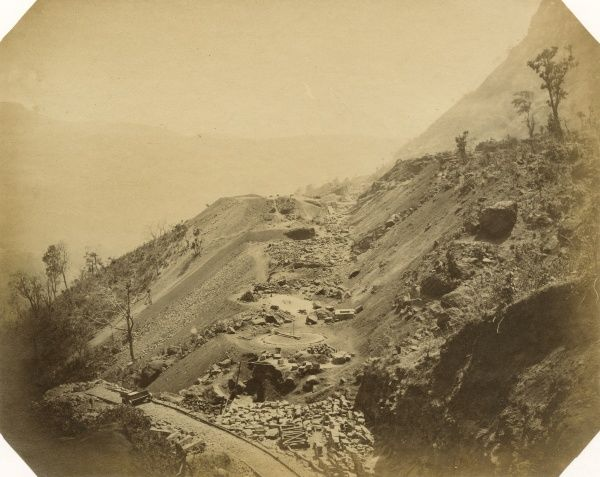 Cuttings 42 and 43, from Tunnel 19, looking up the incline; at 8 miles Date: 1856