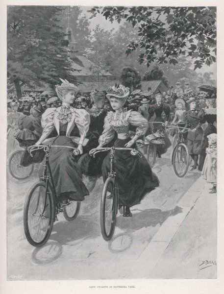 Cycling in Battersea Park, London
