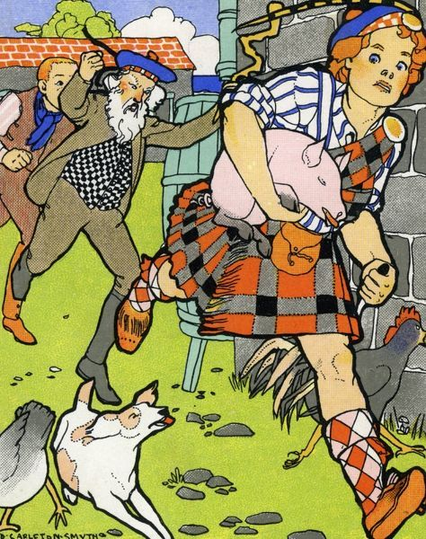 Tom, Tom the piper's son stole a pig and away did run... 20th century