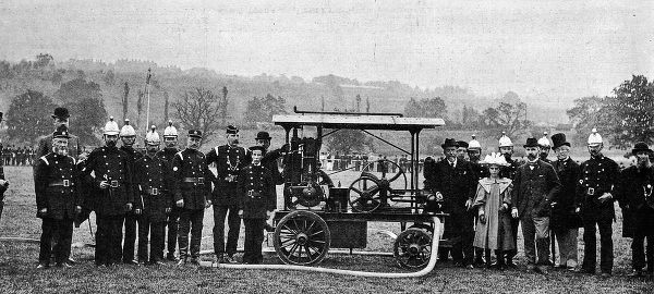 An example of an early Daimler petroleum fire engine for the country house of the Hon. Evelyn Ellis