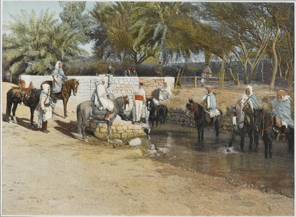 Dairos (native cavalry of the French Armee d'Afrique) carry out police duties in Algeria