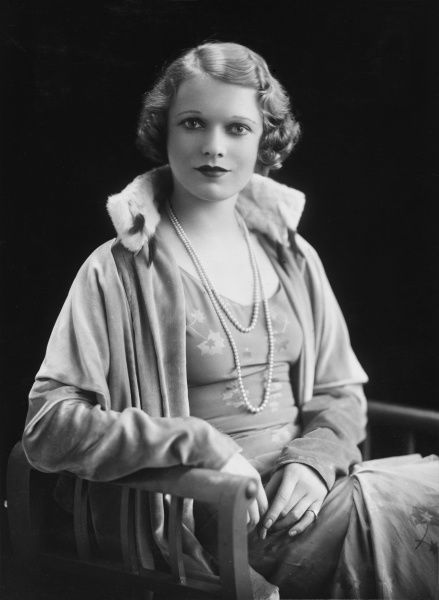 Photographic portrait of Dame Anna Neagle (1903 - 1986), born Flora Marjorie Robertson, British actress and film star. Neagle soon became associated with the historical picture portraying Nell Gwynn and Queen Victoria on the silver screen