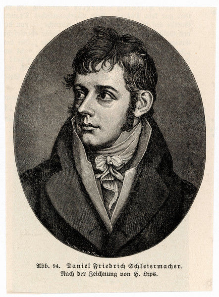 FRIEDRICH ERNST DANIEL SCHLEIERMACHER German philologist and protestant philosopher (as a young man)