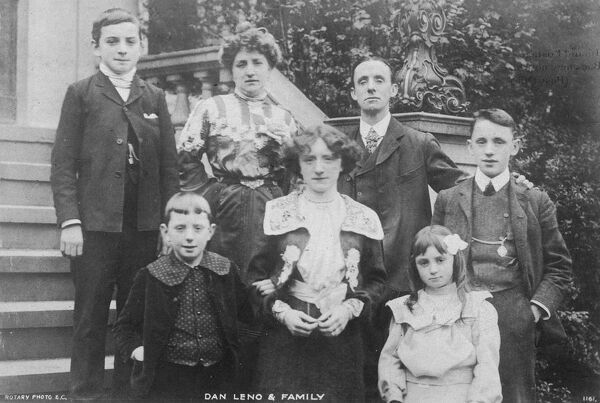 DAN LENO Music hall entertainer with his family Date: 1860 - 1904