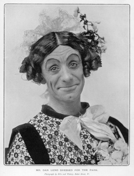 DAN LENO Music hall artist dressed as a woman
