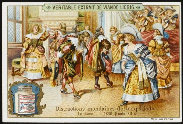 French aristocrats dancing, during the reign of Louis XIII