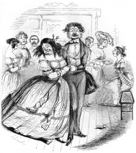 Dancing partners at a charity ball Date: 1843