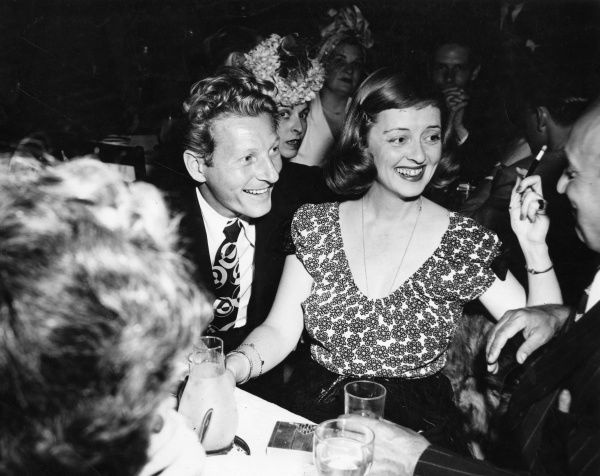 Danny Kaye (1913-1987) American actor and singer with Bette Davis (1908-1989) American actress