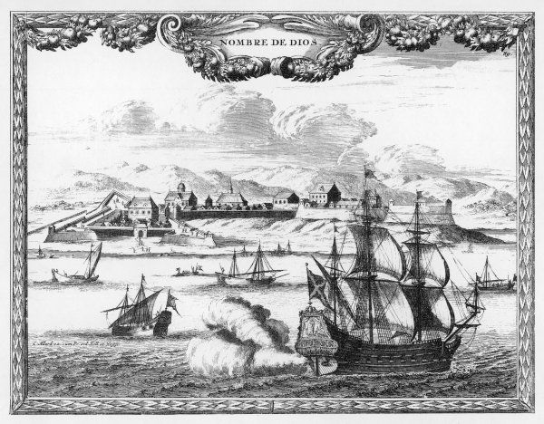 DARIEN EXPEDITION A view of the Darien Isthmus, Panama at the time of the Scottish colony established there in November 1698 (it failed in 1699)