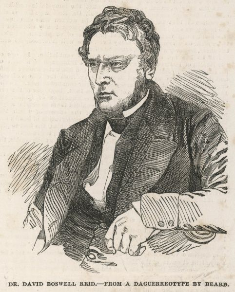 David Boswell Reid, M.D, F.R.S.E Doctor and sanitation reformer from Edinburgh, responsible for the ventilation and lighting of the House of Commons in the 1840s