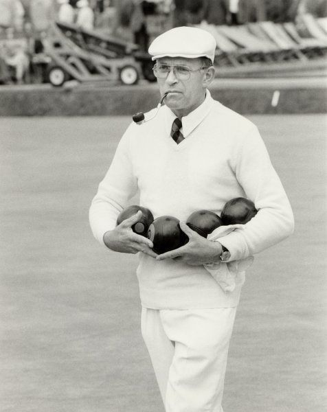 David Bryant, CBE, bowls legend; a trout-fishing, pipe- smoking man of Somerset who is regarded as the greatest player in the history of the sport