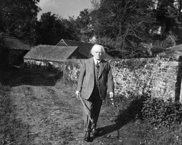David Lloyd George, 1st Earl Lloyd-George of Dwyfor (1863-1945), British Liberal Prime Minister from 1916 to 1922. Seen here walking round his farm at Churt, Surrey. Date: circa 1920s