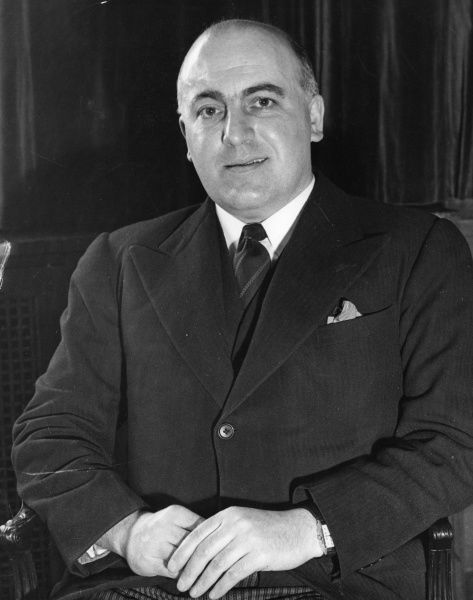Sir David Maxwell Fyfe, 1st Earl of Kilmuir (1900-1967) British politician who was home secretary (1951-54) and Lord Chancellor (1954-1962)