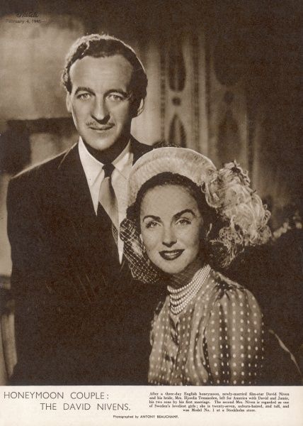 DAVID NIVEN Graduated from the Royal Military College at Sandhurst before he arrived in Hollywood where he became part of Clark Gable's social set. After service as an army officer in WWII he spent 30 years as an English-style leading man
