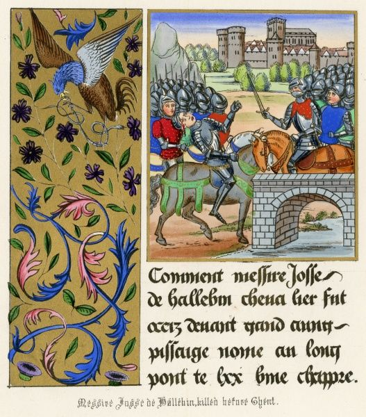 The death of Josse de Hallebin at the passage of Long-pont during the revolt of Flanders