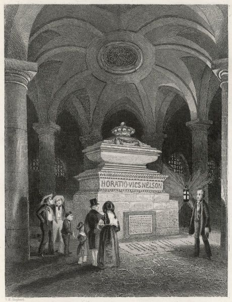Nelson's Tomb in the Crypt of St Pauls