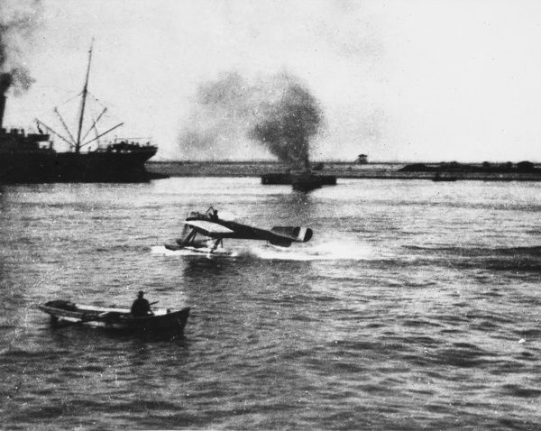 French Naval Nieuport seaplane at Port Said during the defence of Egypt during World War I