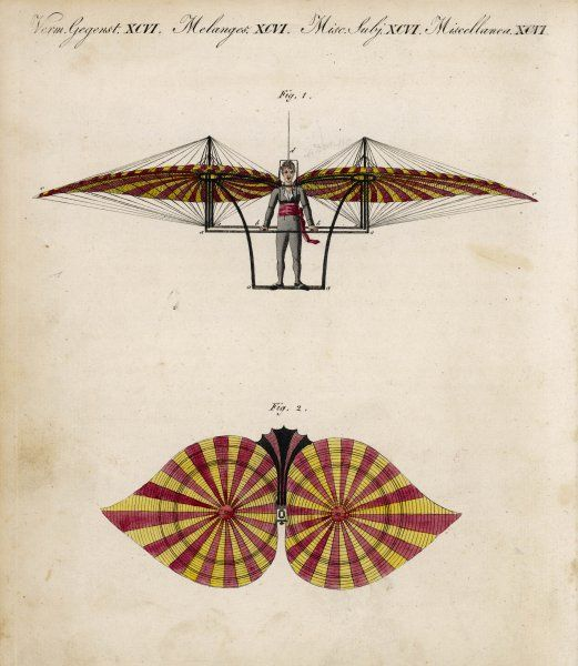 Jacob Degen's 'flapping wings' design