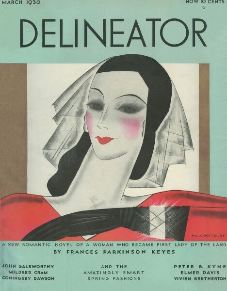 Front cover illustration featuring a woman wearing a fashionable hat