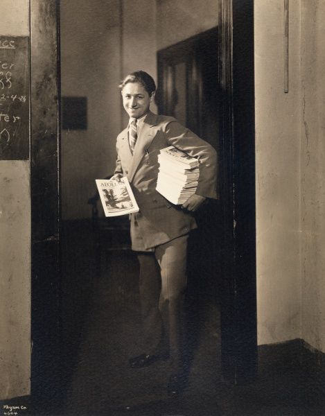 Aeolian Co., Portrait, Stephens Delivering Aeolian Magazine. Aeolian Co., Portrait, Stephens Delivering Aeolian Magazine