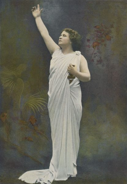 Mlle DELNA French opera singer in the role of Cassandra in Berlioz' 'The Trojans&#39