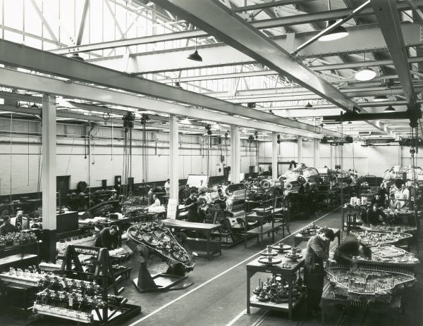 Deltic assembly, in the background are Deltics on revolving cradles Date