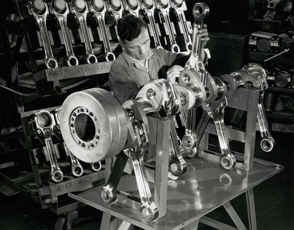 Deltic engine assembly Date