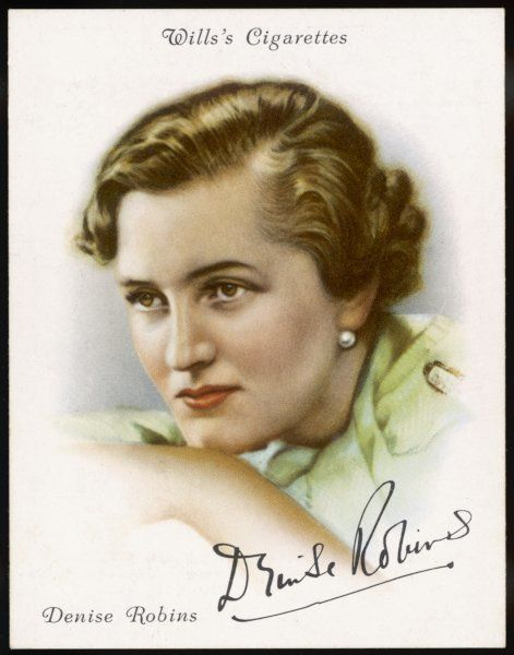DENISE ROBINS Romantic novelist in 1936 - she had many pseudonyms