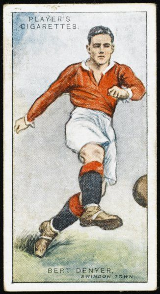 Bert Denyer, winger for Swindon Town