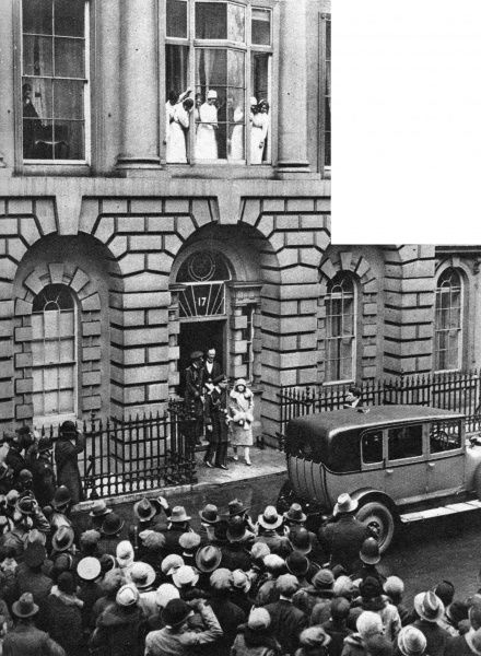 Leaving their London home in Bruton Street after saying goodbye to their little daughter Princess Elizabeth, the Duke and Duchess of York, later King George VI and the Queen Mother, set out for their tour of Australia and New Zealand