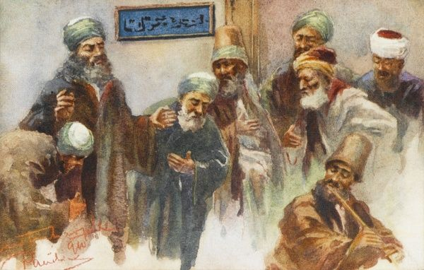 Dervishes of different Sufi orders engaged upon Zikr - remembrance and praise of God