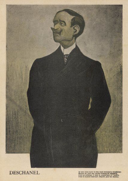 PAUL-EUGENE-LOUIS DESCHANEL French statesman President briefly in 1920